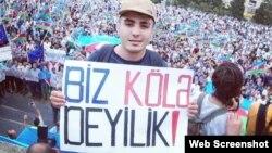 """""""Mehman Hüseynova azadlıq!"""" şüarı ilə müdafiə kampaniyası"""