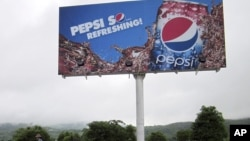 A Pepsi advertisement in Naypyitaw, Burma, August 11, 2012