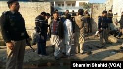 Văn phòng NADRA - nơi xảy ra vụ tấn công tự sát khiến 18 người thiệt mạng ngày 29/12/2015.