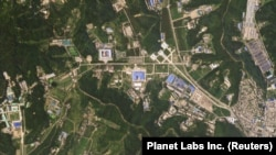 A satellite image shows the Sanumdong missile production site in North Korea, July 29, 2018. (Planet Labs Inc)