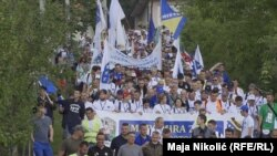 Peace march from Nerzuk to Srebrenica to commemorate the genocide