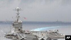 군사훈련에 참여하는 미 항공모함 조지 워싱턴 호 (자료사진)
