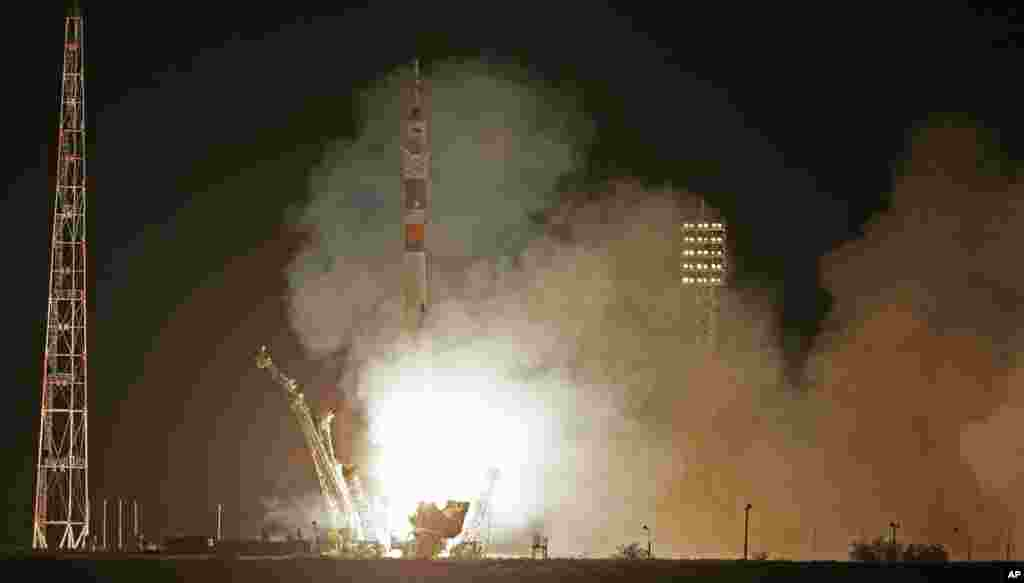 «Союз» стартував з космодрому «Байконур» у Казахстані.
