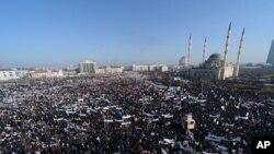 Demonstracije u Groznom, 19. januar, 2015.
