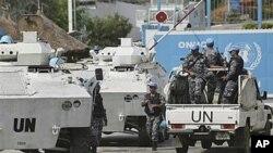 Photo uniquement à titre d'illustration: Des Casques bleus devant le bureau de l'ONU à Abidjan