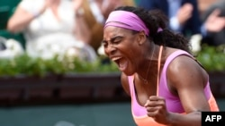 TOPSHOTSUS player Serena Williams celebrates after winning her match. AFP PHO