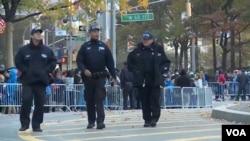 纽约街头的警察