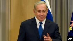 Le Premier ministre Benjamin Netanyahu à Bruxelles, 11 décembre 2017.