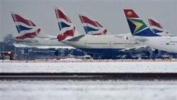 تاخیرهای ناشی از برف و سرما در شمال اروپا ادامه دارد
