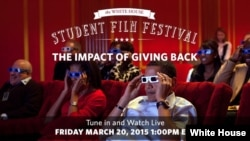 The White House hosted a student film festival on Friday, March 20, 2015.