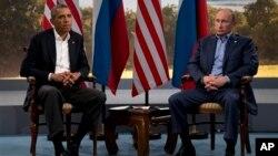 Барак Обама и Владимир Путин. Северная Ирландия. 17 июня 2013 г.