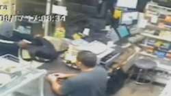 Machete-Wielding Clerk Fights Off Robber