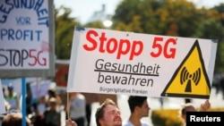 5G-ის საწინააღმდეგო აქცია ბერლინში