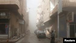 Lokasi tempat serangan udara oleh pasukan Suriah di Raqqa, Suriah timur, yang dikuasai Negara Islam (ISIS).