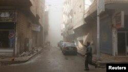 La ciudad siria de Raqqa fue bombardeada al menos 30 veces por aviones de la coalición que lidera EE.UU.