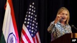 인도를 방문한 힐러리 클린턴(Hilary Clinton) 미 국무장관