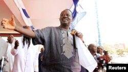 Le Premier ministre et candidat Raila Odinga.