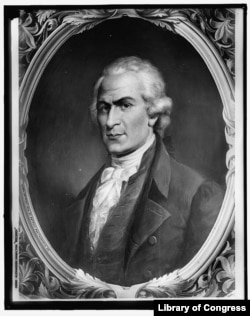 A glass negative of Alexander Hamilton from Constantino Brumidi (Courtesy of Library of Congress)