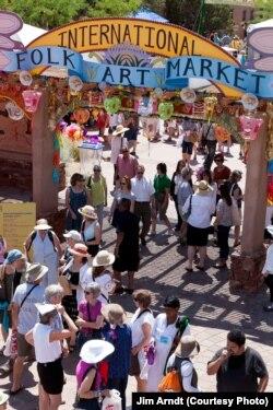 Santa Fe xalqaro hunarmandlar festivalidan. Jim Arndt olgan surat.