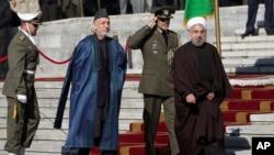 حامد کرزئی اور ایران کے صدر حسن روحانی کی فائل فوٹو