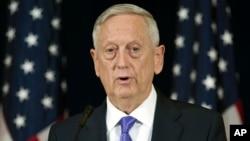 제임스 매티스 미국 국방장관.
