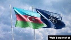 Azərbaycan və NATO bayraqları