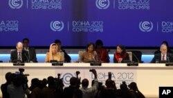 Suasana pembukaan konferensi perubahan iklim global PBB di Doha, Qatar (26/11).