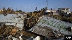 Обломки погибшего авиалайнера