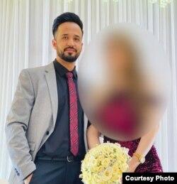 哈西布·卡迈勒与妻子2021年8月14日在喀布尔沦陷前一天结婚。她未能进入喀布尔机场大门。