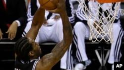 Kawhi Leonard, alors avec les San Antonio Spurs, Miami, le 10 juin 2014.