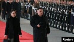 Şimali Koreya lideri Kim Conq Un və həyat yoldaşı Ri Sol Cu