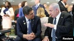 رئیس جمهوری هندرواس در حاشیه مراسم سوگند رئیس جمهوری برزیل با نتانیاهو دیدار کرد