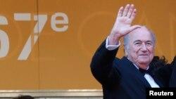 Sepp Blatter, président démissionnaire de la Fifa.