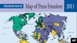 Mapa da liberdade de imprensa