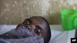 一名剛果霍亂病人。
