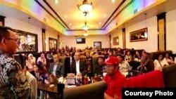 "Suasana acara ""Sosialisasi Pemilu"" bagi Warga Negara Indonesia yang diselenggarakan oleh PPLN di Washington DC area (Courtesy: PPLN Washington DC)."