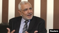 Egyptian presidential candidate Abdel Moneim Abol Fotouh (file photo)