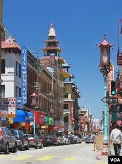 Kawasan Chinatown di kota San Fransico (foto: dok).