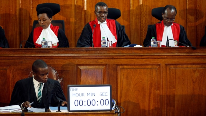 Voice of America, Kenya Court to Rule on Presidential Election Cases on Monday