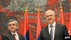 Серж Саргсян и Борис Тадич