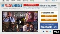 Tampilan situs untuk film 'My Fellow American.'