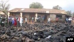 Boko Haram militanlarının ateşe verdiği kilisede ölenler