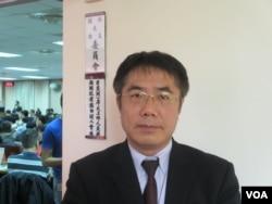 台湾民进党立委黄伟哲(美国之音张永泰拍摄)
