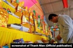 Một lễ cầu siêu được tổ chức ở Đà Nẵng hôm 13/3 cho các tử sĩ Việt Nam trong trận Gạc Ma năm 1988