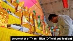 Một lễ cầu siêu được tổ chức ở Đà Nẵng hôm 13/3 cho các tử sĩ Việt Nam trong trận Gạc Ma năm 1988.