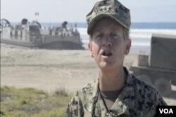 美國第三艦隊司令諾拉.泰森中將。(視頻截圖)
