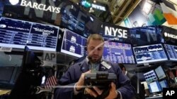 6月20日紐約證券交易所交易廳裡的景象