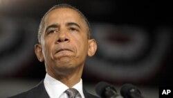Tổng thống Obama nói với những người mà ông gặp rằng ông đến với tư cách một người cha và người chồng, hơn là với tư cách tổng thống