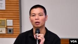 香港浸會大學新聞系高級講師呂秉權。(美國之音湯惠芸拍攝)