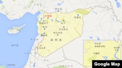 叙利亚拉卡地理位置